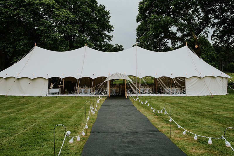 9x27m<br /> PETAL POLE MARQUEE