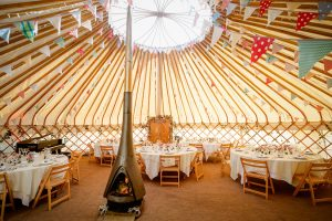 Yorkshire Yurts 33ft Wedding Reception