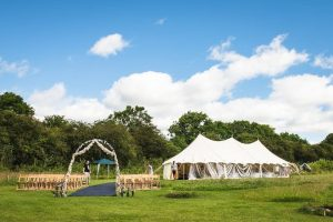 Yorkshire Yurts 9x21m Petal Pole Marquee