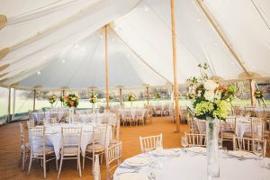 Yorkshire Yurts Celeste Marquee Wedding Breakfast