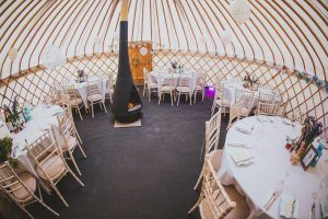 Yorkshire-yurts-25ft-Yurt-Internal-with-stove