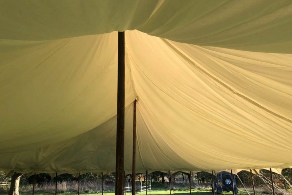 Yorkshire-Yurts-Petal Pole Marquee Lining